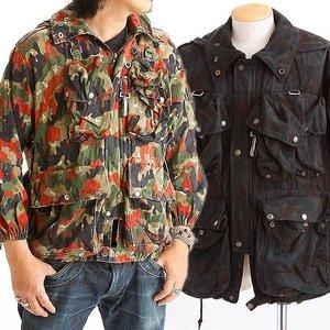 スイス軍放出 アルペンカモ フラージュマンテンジャケット ブラック染め JJ021UN 52(L相当)【中古】 - 拡大画像