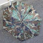 ミリタリーワンタッチ折り畳み傘 EE376YN ウッドランド