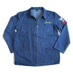 アメリカ軍 デニムジャケット/スーベニアジャケット 【 40/Lサイズ 】 JJ151YNE M デニム刺繍 【 レプリカ 】