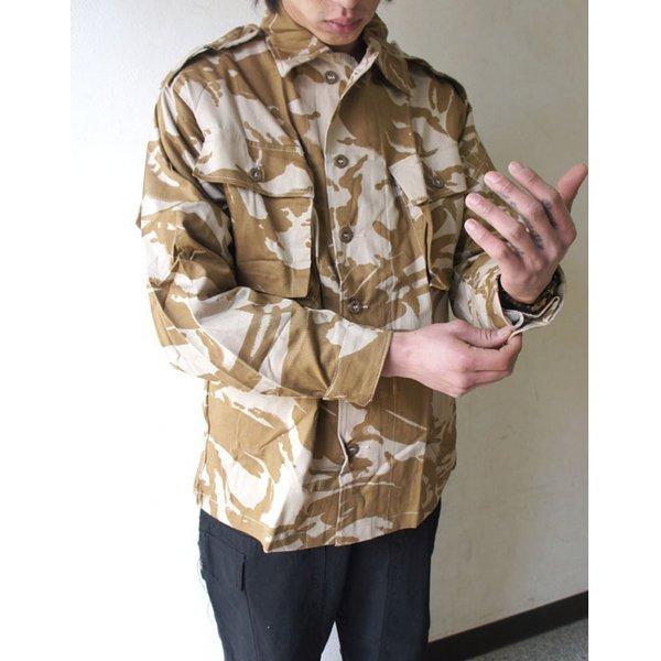 イギリス軍 放出 デザートDP Mシャツ J S032NN 96( M〜 L)サイズ     未使用