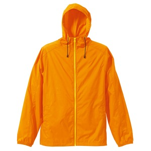 花粉対策フッ素撥水加工マウンテンパーカーCB7025オレンジ/イエローMサイズ