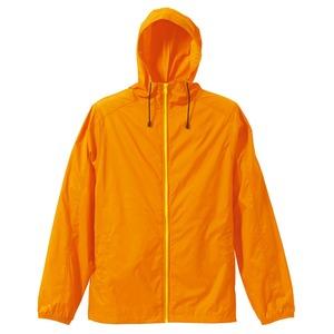 花粉症対策フッ素撥水加工マウンテンパーカー CB7025 オレンジ/イエロー Lサイズ - 拡大画像