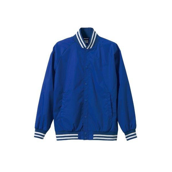 花粉症対策フッ素撥水加工スタジアムジャケット CB7054 ブルー/ホワイト Lf00