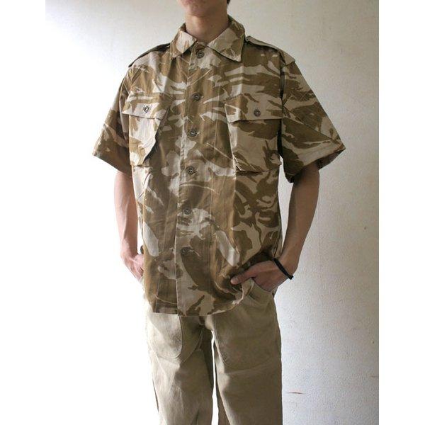 イギリス軍 放出 DP Mシャツ 半袖 デザト カモ( 迷彩) J S106NN M〜 Lサイズ  デットストック   未使用