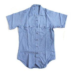 米軍放出 シャンブレー半袖シャツ JS105NN M~Lサイズ 【デットストック】【未使用】 h01