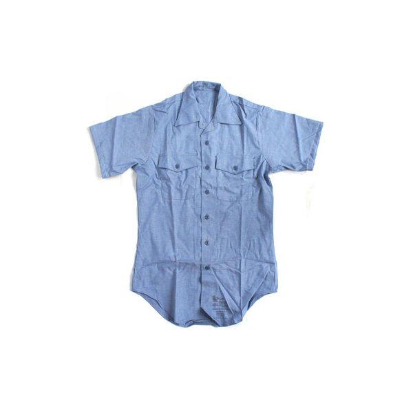 米軍放出 シャンブレー半袖シャツ JS105NN M~Lサイズ 【デットストック】【未使用】f00
