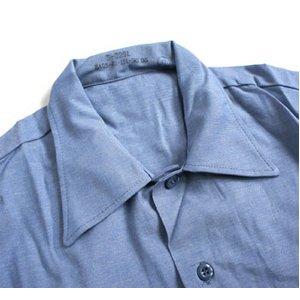 米軍放出 シャンブレー半袖シャツ JS105NN M~Lサイズ 【デットストック】【未使用】 h03