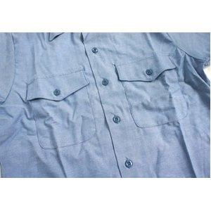 米軍放出 シャンブレー半袖シャツ JS105NN M~Lサイズ 【デットストック】【未使用】 f04