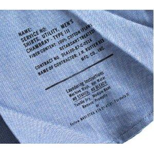 米軍放出 シャンブレー半袖シャツ JS105NN M~Lサイズ 【デットストック】【未使用】 f06