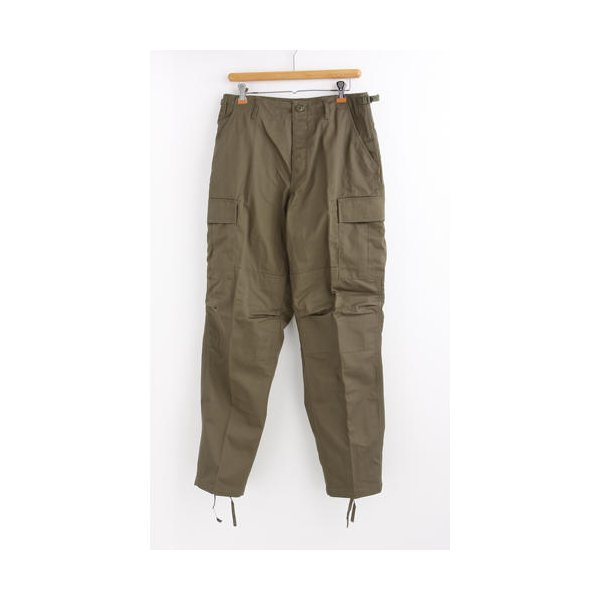 アメリカ軍 BDU カーゴパンツ /迷彩服パンツ  XSサイズ  YN521007 オリーブ  レプリカ