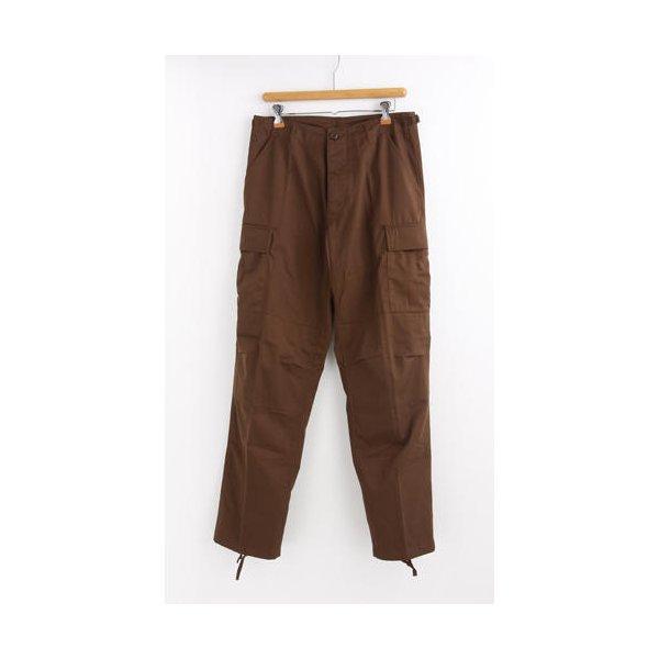 アメリカ軍 BDU カーゴパンツ /迷彩服パンツ  Lサイズ  YN521007 ブラウン  レプリカ