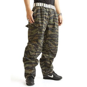 アメリカ軍 BDU カーゴパンツ /迷彩服パンツ 【 Lサイズ 】 YN521007 タイガー 【 レプリカ 】