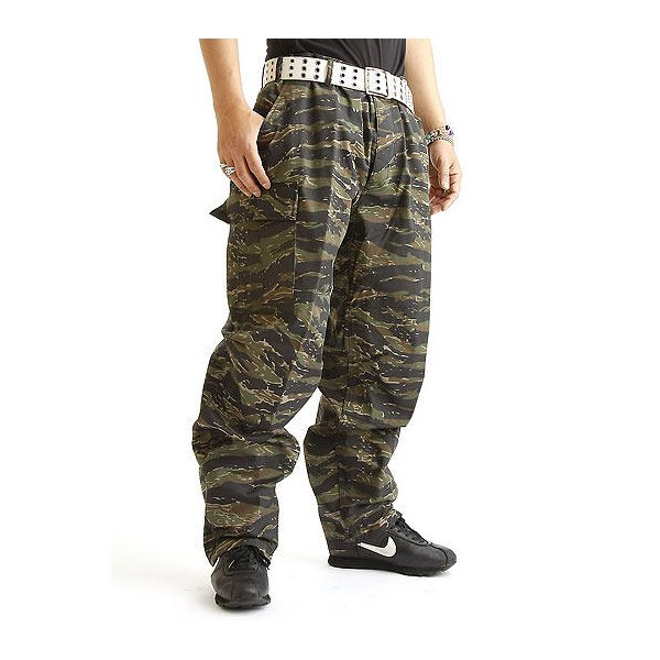 アメリカ軍 BDU カーゴパンツ /迷彩服パンツ  Lサイズ  YN521007 タイガー  レプリカ