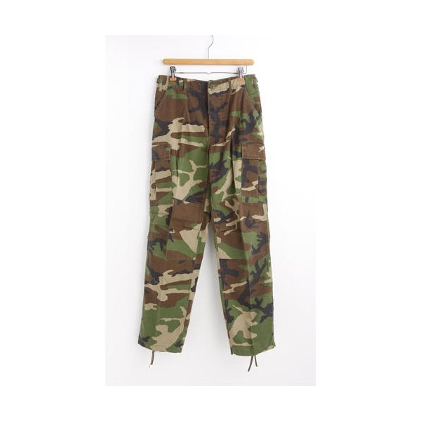 アメリカ軍 BDU カーゴパンツ /迷彩服パンツ  Sサイズ  YN521007 ウットランド  レプリカ
