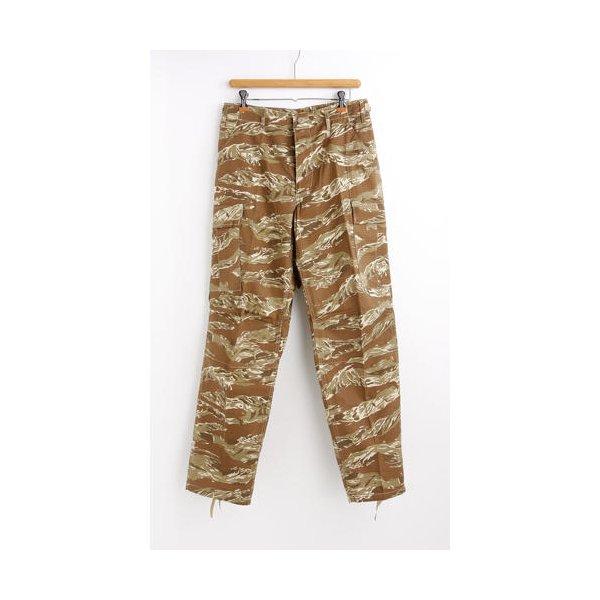 アメリカ軍 BDU カーゴパンツ /迷彩服パンツ  Sサイズ  リップストップ YN521007 デザート タイガー  レプリカ