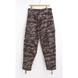 アメリカ軍 BDU カーゴパンツ/迷彩服パンツ【Lサイズ】 リップストップ YN521007 ブラックタイガー【レプリカ】