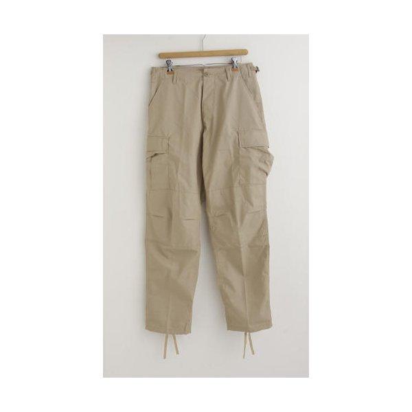 アメリカ軍 BDU カーゴパンツ /迷彩服パンツ  Sサイズ  リップストップ YN521007 カーキ  レプリカ