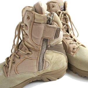 """アメリカ軍 サイドジッパブーツ/靴 【 7W/25cm 】 特殊部隊""""DE LTA""""モデル FB047YN サンド 【 レプリカ 】"""