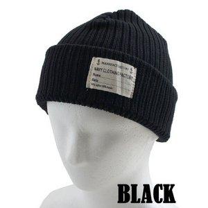 米海軍 沿岸警備隊 ワッチキャップ HC040YN ブラック 【 レプリカ 】
