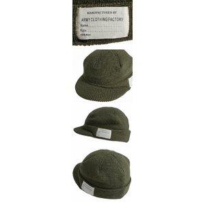 アメリカ陸軍 ジープキャップ/帽子 ウール100% HC041YN エンジ 【レプリカ】