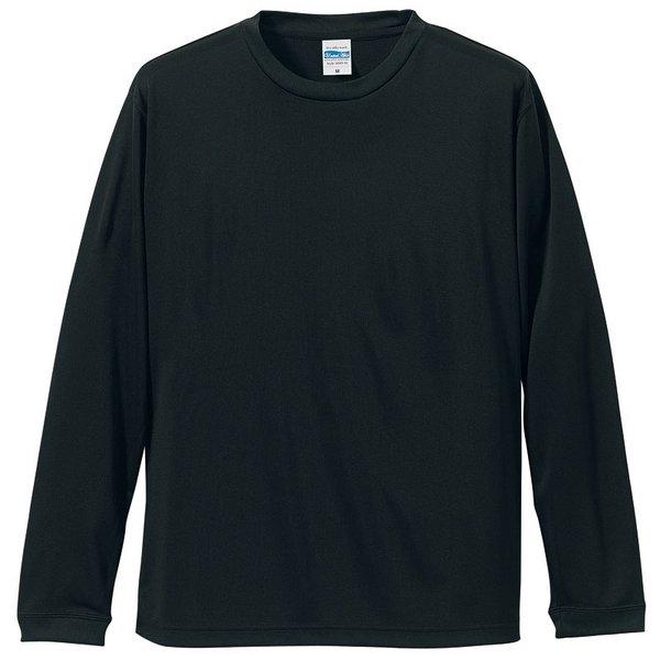 UVカット・吸汗速乾・シルキータッチロングスリーブ Tシャツ CB5089 ブラック XXLf00