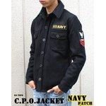 """米軍 C.P.O.ジャケット """"NAVYパッチ"""" JJ127YP ブラック 38( M) 【 レプリカ 】"""