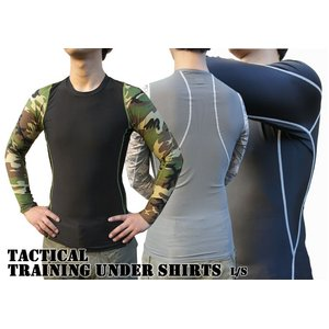 アメリカ軍 タクティカルトレーニングアンダーシャツ 【 長袖/Mサイズ 】 Y M615004 ウッドランド 【 レプリカ 】