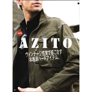 綿バイオ加工ミリタリー風カジュアルワークジャケット  AZ21001  カーキ  LLサイズ