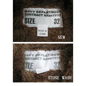 米軍 「N-1」 DECK ジャケット 《ストーンウォッシュ加工》 JJ105YNWS ネイビー 40(XL)サイズ 【レプリカ】
