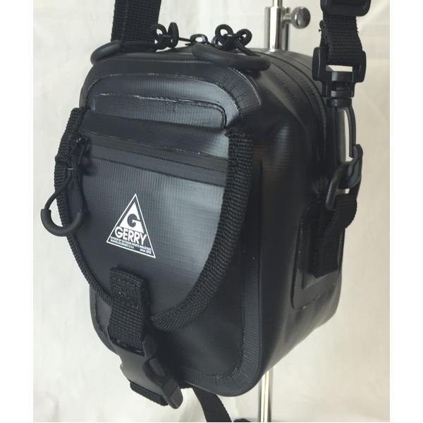 GERRY 超軽量防水スマフォ デジカメ入れに便利ミニショルダー & ウェストポーチ バッグ GE8002 ブラックf00