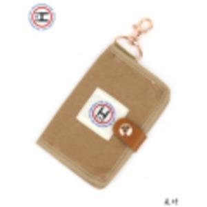 江戸の粋な匠が丁寧に仕上げた江戸帆布パスケース 日本製 eh-010 ベージュ