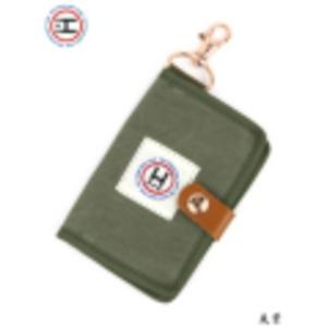 江戸の粋な匠が丁寧に仕上げた江戸帆布パスケース 日本製 eh-010 カーキ h01