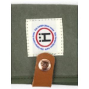 江戸の粋な匠が丁寧に仕上げた江戸帆布パスケース 日本製 eh-010 カーキ f04