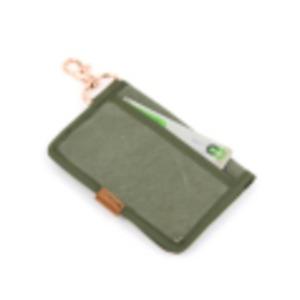 江戸の粋な匠が丁寧に仕上げた江戸帆布パスケース 日本製 eh-010 カーキ f05