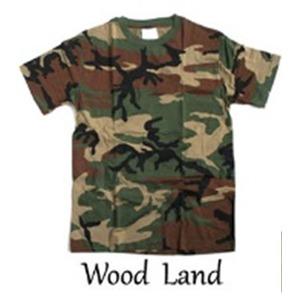 カモフラージュTシャツ(迷彩Tシャツ)JT048YNウッドランドSサイズ