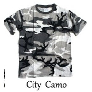 カモフラージュ Tシャツ( 迷彩 Tシャツ) JT048YN シティー カモ Lサイズ - 拡大画像