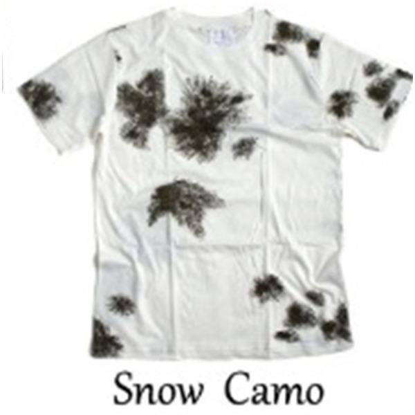 カモフラージュ Tシャツ( 迷彩 Tシャツ) JT048YN BWスノー カモ Lサイズf00