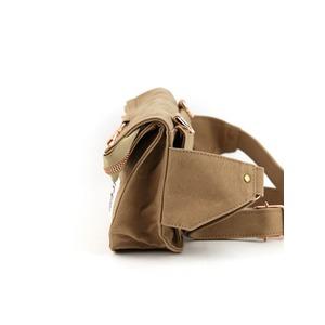 江戸の粋な匠が丁寧に仕上げた江戸帆布2WAYウェストバッグ 日本製 eh-005 エンジ