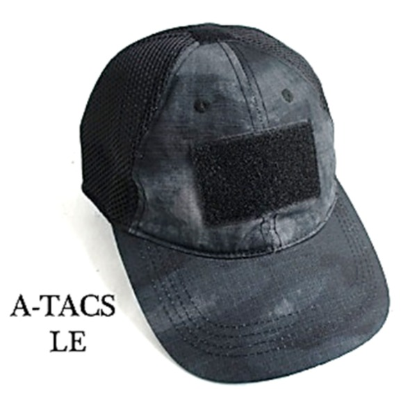 吸汗速乾 米軍 タイプタクティカル最新鋭 カモメッシュキャップ( 迷彩帽子) HC044YN A-TAC S( LE)  レプリカ