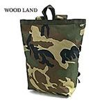 水に強い防水加工 布使用リュックサックなるトートバッグ BR066YN ウッドランド