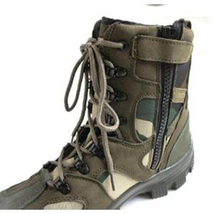 """米軍特殊部隊""""CONQUEROR""""モデル サイドジッパブーツ FB049YN ウッドランド 6W(24cm)"""