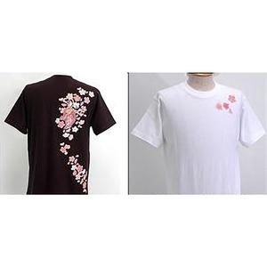 浮き出る立体プリント和柄!幸せの七福神Tシャツ (半袖) 1998・弁財天 黒 XL (NP) h02