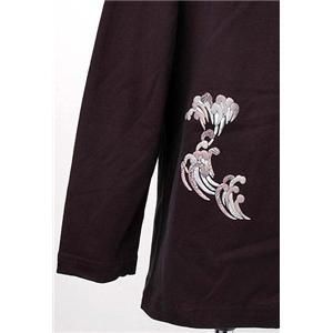 語れる立体和柄ロングTシャツ S-1300/登鯉 S