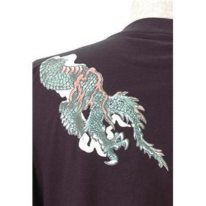 語れる立体和柄ロングTシャツ S-1670/緑龍 S(NP) h02