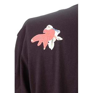 語れる立体和柄ロングTシャツ S-148M8/七匹金魚 M h02
