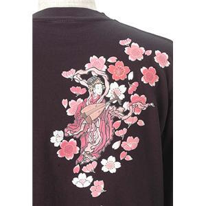 語れる立体和柄ロングTシャツ S-1998/弁財天 L h02