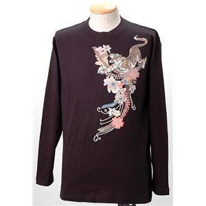語れる立体和柄ロングTシャツ S-1976/花虎 M - 拡大画像
