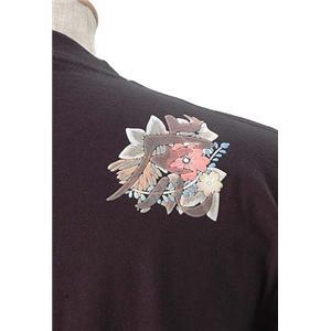 語れる立体和柄ロングTシャツ S-1976/花虎 L
