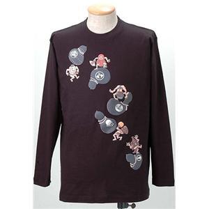 語れる立体和柄ロングTシャツ S-1979/瓢箪とっくり M h01