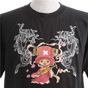 むかしむかし ワンピースコレクション 和柄半袖Tシャツ  S-2438/チョッパー双龍 黒L h02